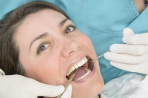 Relaxed patient receiving a CEREC dental crown