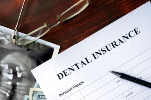 Photo of dental insurance paper